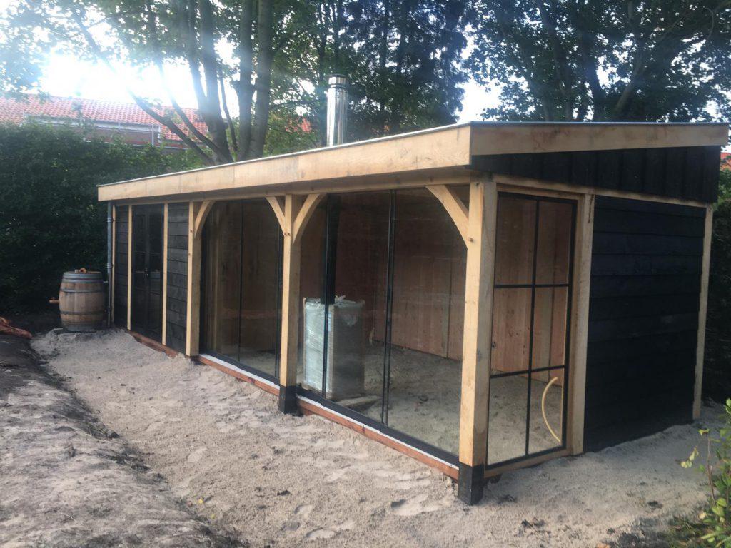 houten-tuinhuis-met-veranda-groendak-3-1024x768 - Tuinhuis met veranda groendak
