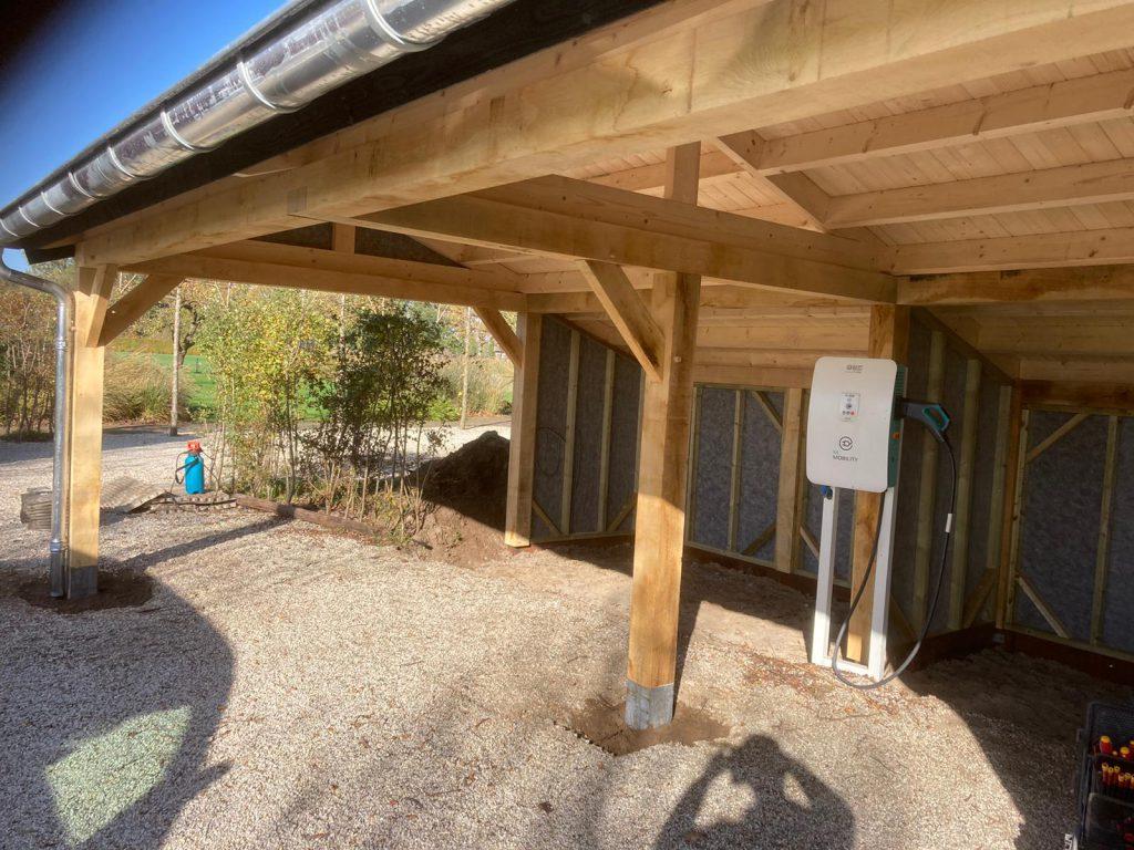 Houten-kapschuur-met-dubbele-carport-1024x768 - Houten Carport