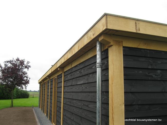 Eiken-poolhouse-met-pergola-7 - Houten terrasoverkapping