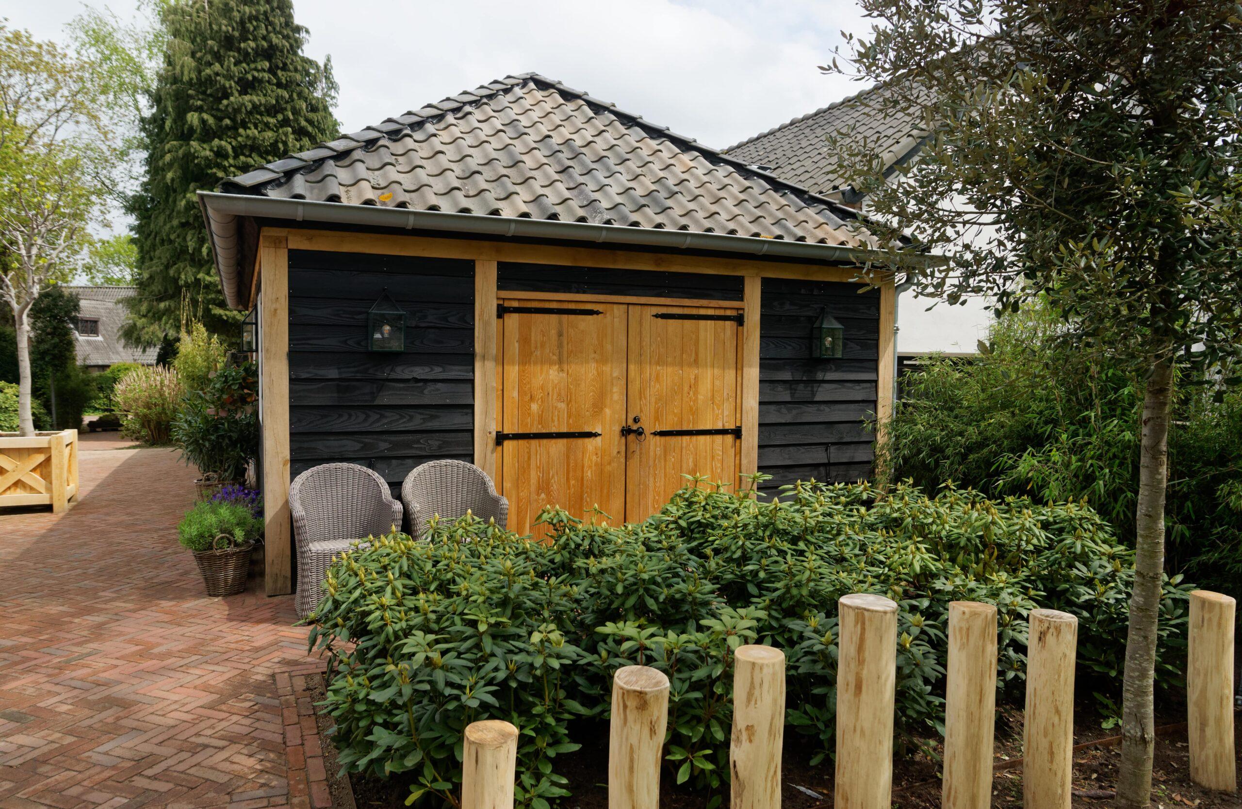 Eiken-bijgebouw-19-scaled - Project Laren: Houten schuur met sauna en tuinkamer