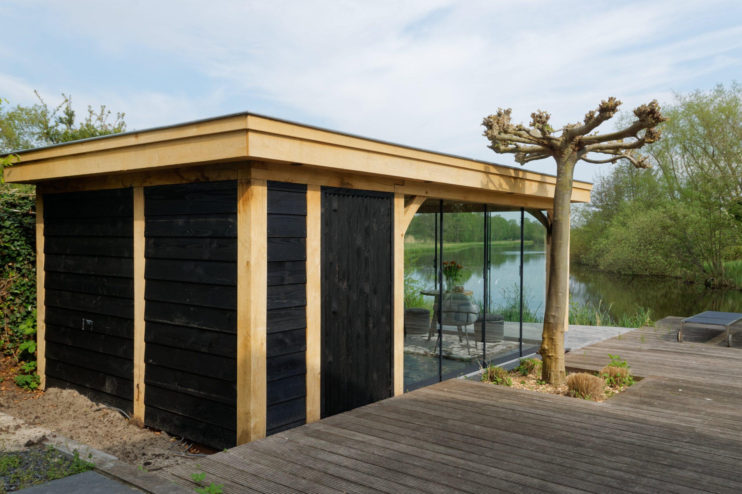 Luxe-tuinkamer-aan-het-water-1-scaled - Project Kortenhoef: Luxe tuinkamer aan het water