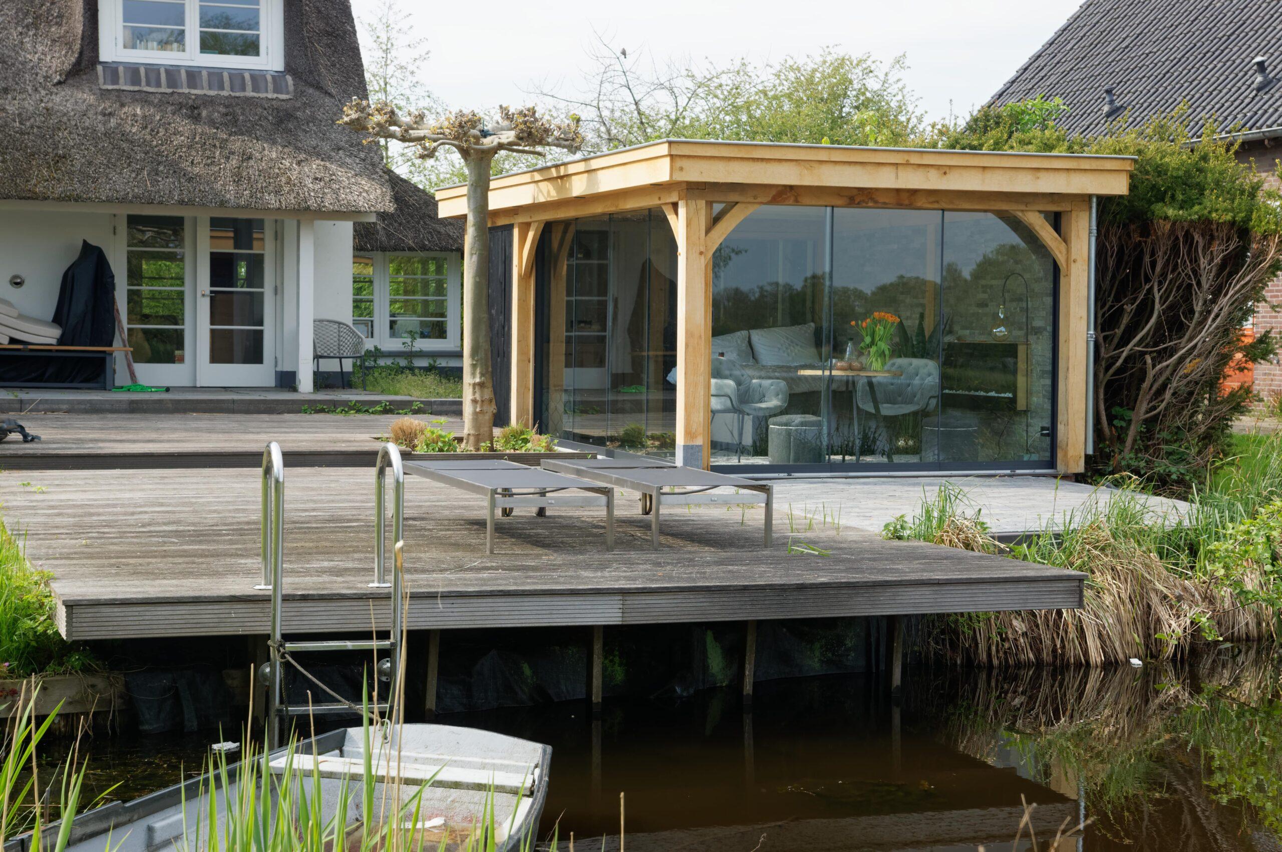 Luxe-tuinkamer-aan-het-water-3-scaled - Project Kortenhoef: Luxe tuinkamer aan het water