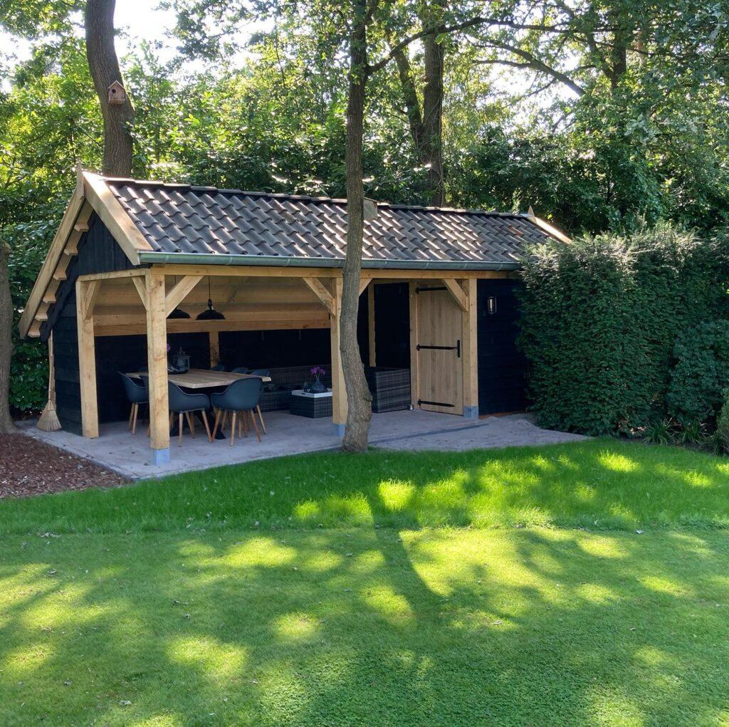 houten-kapschuur-met-tuinkamer-1024x1021 - Houten kapschuur met tuinkamer