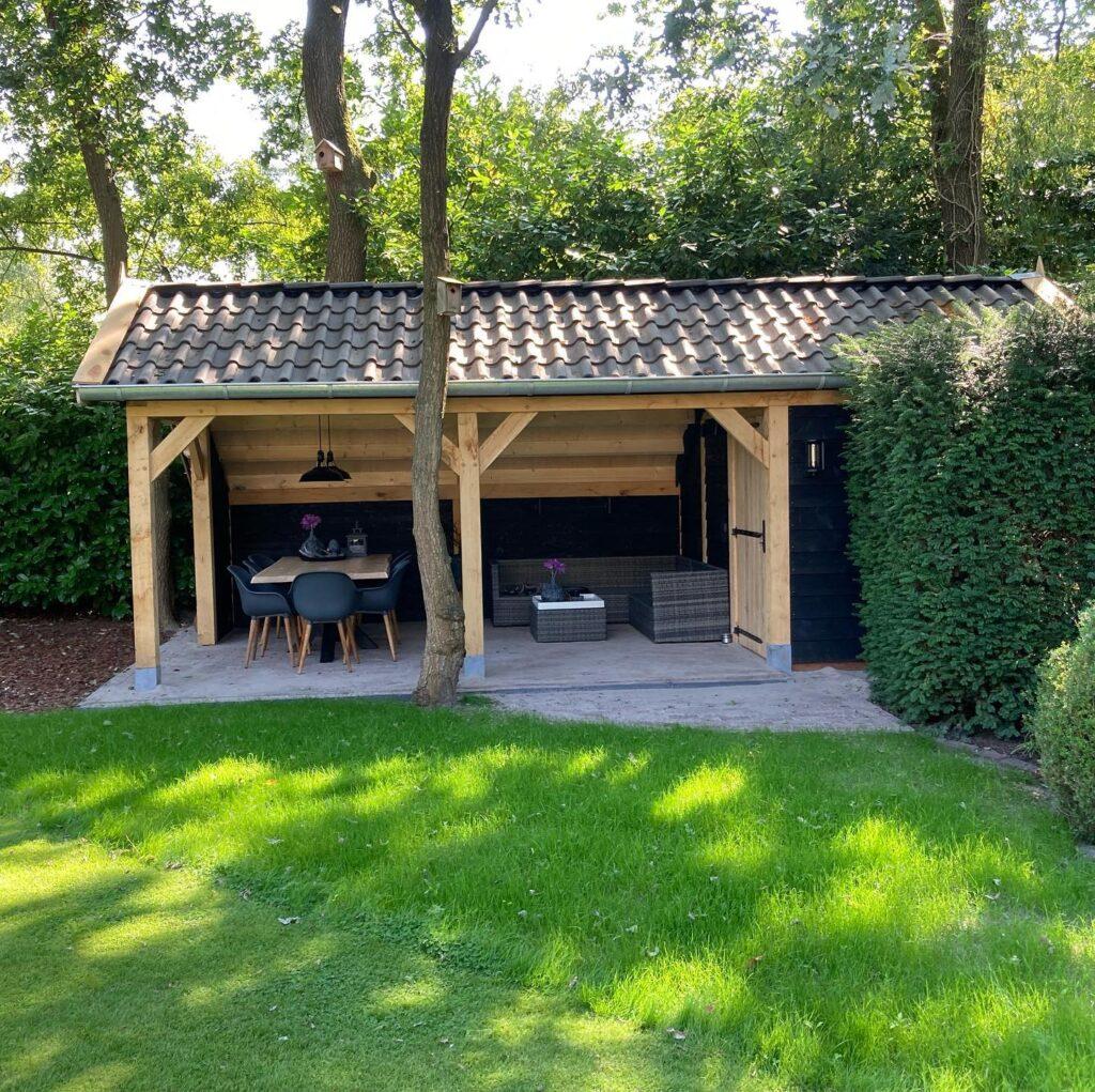 houten-kapschuur-met-tuinkamer-2-1024x1021 - Houten kapschuur met tuinkamer